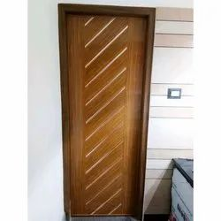Wood Polished Designer Modular Door, Thickness: 15 To 20 Mm, Brown
