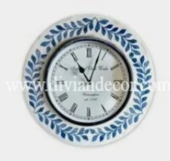 Bone Inlay Wall Clock