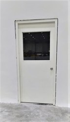 Half Glazed Single Leaf Steel Door