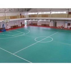 SS Turf Multi Color Basketball Court Flooring Service