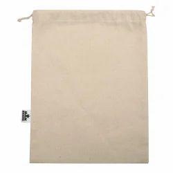 Drawsting Plain Natural Cotton Bag, Capacity: Upto 5 Kg, Size/Dimension: 9
