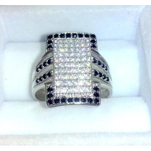 Casual Wear Men American Diamond Sterling Silver Ring Size 1 To 36 Rs 65 Gram Id 9563164012
