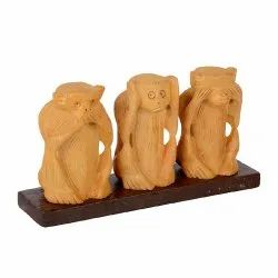 Wooden Monkey Set