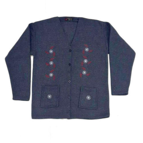 74f14a9531 Ladies V-Neck Full Sleeve Cardigan