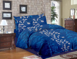 Floral Blue Print Bed Sheets