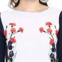 Floral Printed Crepe Kurti