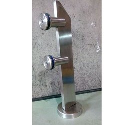 Silver Stainless Steel Stair Handrail Brackets