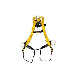 Yellow Nylon Retractable Safety Harness