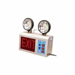 230 V Input Yellow And White EMERGENCY EXIT LIGHT, 220 To 230 V, 310*310*120 Mm