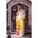 Ladies Party Wear Printed Cotton Bandhani Saree