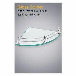 Triangle Corner Glass Shelf