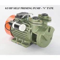 Single Phase V Type 0.5 HP Self Priming Pump