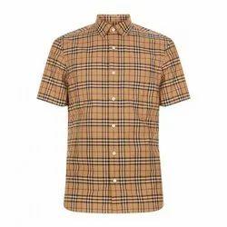 Half Sleeve Cotton Check Shirt