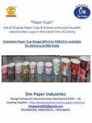OM Printed 65ML Paper Cup, For Event and Party Supplies