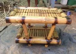 Natural Rectangular Bamboo Table, For Home