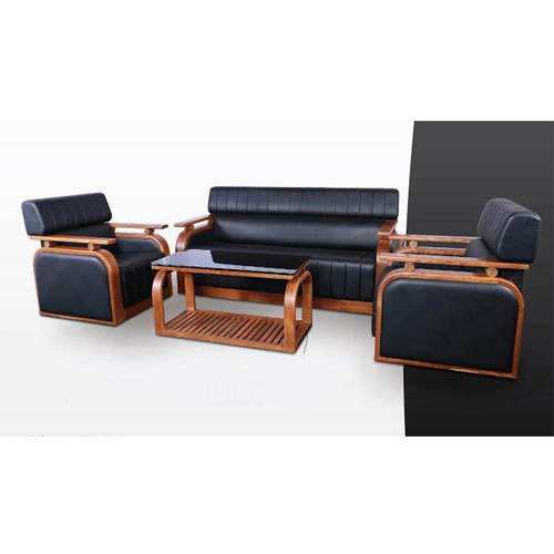 Black Rexin Sofa Set Rs 63000 Set Vip Wood Crafts Id 15198290512