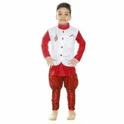 Cotton Party Wear Kids Sherwani, 1-7 Years