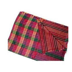 Semi Cashmere Check Reversible Shawls