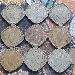 9 All Different Years Set - King George VI - 2 Annas - BRITISH INDIA - 1939 1940 1941 1942
