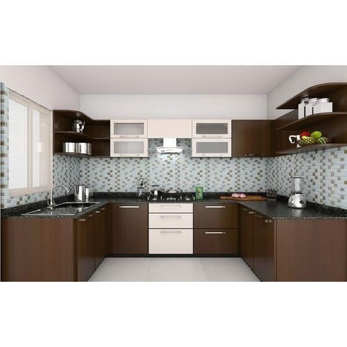 Designer Modular Kitchen At Rs 360 Square Feet: Modern And Green U-Shaped Modular Kitchen, Rs 950 /square