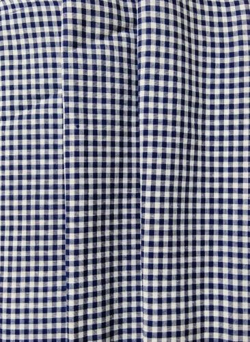 Navy / White Plain Woven Rayon Fabric - Check, Rs 100 /meter | ID ...