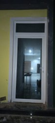 Toughened Glass L Handle Upvc Doors