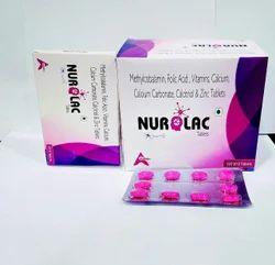 Methylcobalamine-folic-acid-vitaminscalcium Carbonate,calcitriol & Zinc Tablet