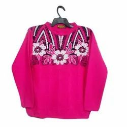 Pink Girls Woolen Top