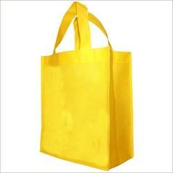 Rectangular Yellow Woven Bags, For Shopping