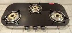 3 Burner Glass Top Gas Stove Pearl Series