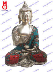 Lord Buddha Sitting Sakyamuni Without Base W/ Stone Work