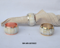 Mki Copper And Brass Antique Brass & Mother Of Pearl Napkin Ring