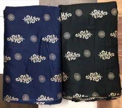 10-15 Days Rayon Gold Print Fabric Printing Service, in Jodhpur