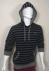 Full Sleeves Mens Hooded T Shirt