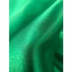 Plain Green Polyester Satin Fabric, For Garments, Packaging Size: 100 Meters