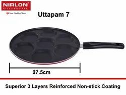 Nirlon Mini Uttapam Snack Maker Tawa, 7 Cavity