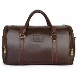 The Clownfish Unisex Premium Leatherette Travel Duffle Weekender Bag (Brown) 8504256ab8bc2