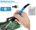 Soldering Kit with Adjustable Iron Point Tips