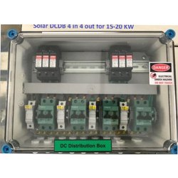 Solar DC Distribution Box 4 in 4 Out with DC SPD, DC MCB