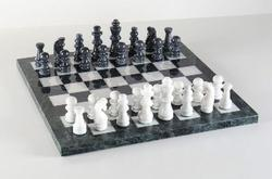 Black Marble Chess Board Game Set