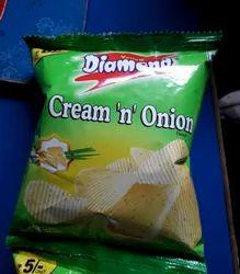 Yellow Diamond Cream N Onion Chips