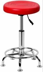 Revolving Bar Stool Chair - Multicolor Chrome Base / Wooden Base / Height Adjustable