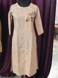 Indian Handmade Embroidery Cotton Kurti Ladies Dress