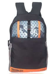 Black Orange Liberty Laptop Backpack Bag