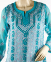 Heavy Chikan Embroidered Kurti