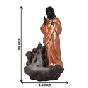 Jesus Back Flow Smoke Fountain Incense Holder
