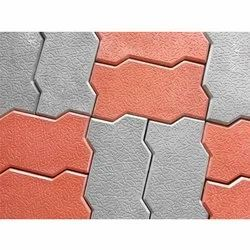 Concrete Zig Zag Paver Block, Thickness: 12 - 14 mm