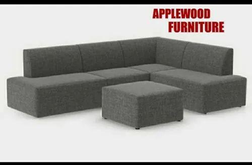 Applewood 4 Seater Wooden Grey Sofa Set, Scandinavian Furniture Mn