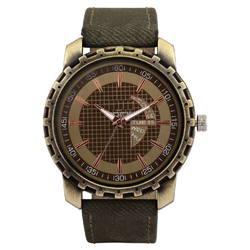 Dino Greenish Leather Watches for men