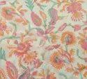 Indian Hand Block Printed Ganganeri Print Fabric